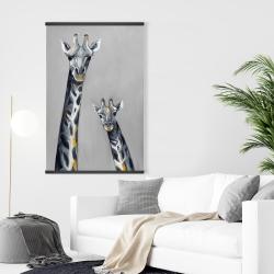 Magnetic 28 x 42 - Steel blue giraffe