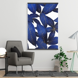 Magnetic 28 x 42 - Abstract modern blue leaves