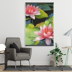 Magnetic 28 x 42 - Water lilies and lotus flowers