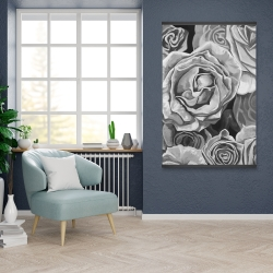 Magnetic 28 x 42 - Grayscale roses