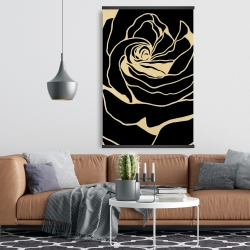 Magnetic 28 x 42 - Cutout black rose