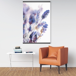 Magnetic 28 x 42 - Watercolor lavender flowers with blur effect
