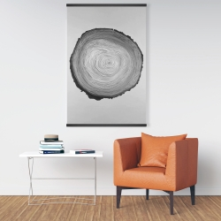 Magnetic 28 x 42 - Grayscale round wood log