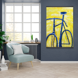 Magnetic 28 x 42 - Blue bike on yellow background