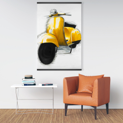 Magnetic 28 x 42 - Yellow italian scooter