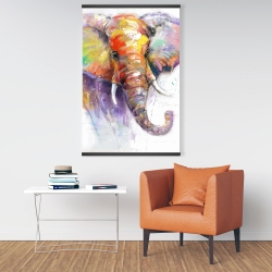 Magnetic 28 x 42 - Beautiful and colorful elephant