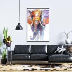 Magnetic 28 x 42 - Colorful walking elephant