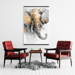 Magnetic 28 x 42 - Beautiful golden elephant