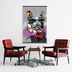 Magnetic 28 x 42 - Abstract bulldog with cigar