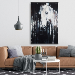 Magnetic 28 x 42 - Abstract horse on black background