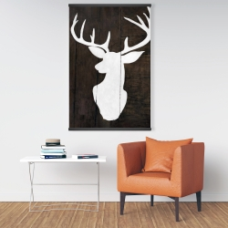 Magnetic 28 x 42 - Silhouette of a deer on wood