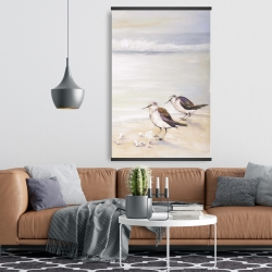 Magnetic 28 x 42 - Two sandpipers on the beach