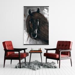 Magnetic 28 x 42 - Dark brown horse