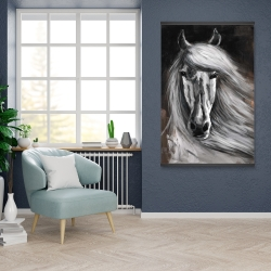 Magnetic 28 x 42 - White horse