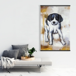 Magnetic 28 x 42 - Curious puppy dog