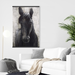 Magnetic 28 x 42 - Black horse