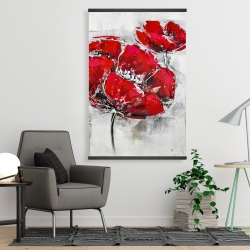 Magnetic 28 x 42 - Abstract and texturized red flowers