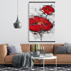 Magnetic 28 x 42 - Texturized red poppies