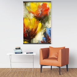 Magnetic 28 x 42 - Texturized yellow flowers