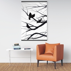 Magnetic 28 x 42 - Birds and branches silhouette