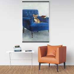 Magnetic 28 x 42 - Chihuahua on a blue armchair