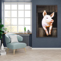 Magnetic 28 x 42 - Smiling pig