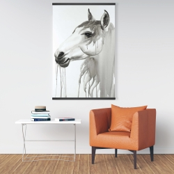 Magnetic 28 x 42 - Beautiful white horse