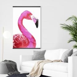 Magnetic 28 x 42 - Watercolor proud flamingo profile