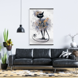 Magnetic 28 x 42 - Cartoon black cat