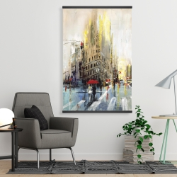 Magnetic 28 x 42 - Abstract rainy street