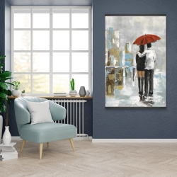Magnetic 28 x 42 - Couple walking under their umbrella