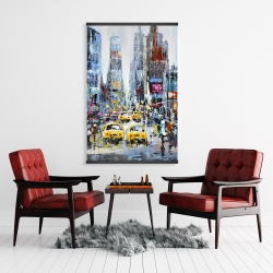 Magnetic 28 x 42 - Urban scene with yellow taxis