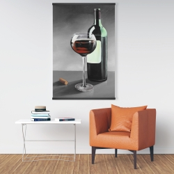 Magnetic 28 x 42 - Bottle of burgundy