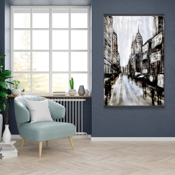 Magnetic 28 x 42 - Busy gray street
