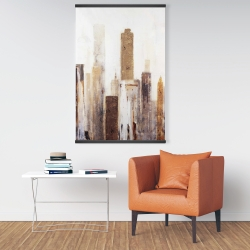 Magnetic 28 x 42 - Abstract earthy tones city