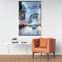 Magnetic 28 x 42 - Abstract red and blue city