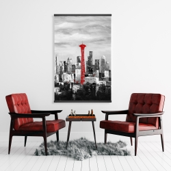Magnetic 28 x 42 - Space needle in red