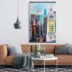 Magnetic 28 x 42 - Colorful cityscape of manhattan