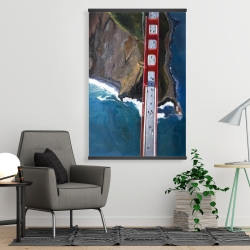 Magnetic 28 x 42 - Overhead view of the golden gate and mountains