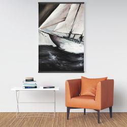 Magnetic 28 x 42 - Boat in a violent storm