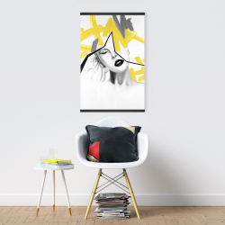 Magnetic 20 x 30 - Woman with yellow line