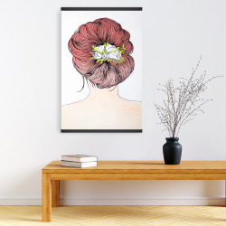 Magnetic 20 x 30 - Lady with flowers in her hair