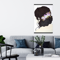 Magnetic 20 x 30 - Woman from behind with pink flowers