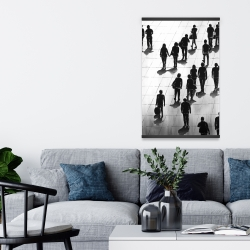 Magnetic 20 x 30 - Silhouettes of people on the street