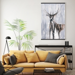 Magnetic 20 x 30 - Winter abstract deer