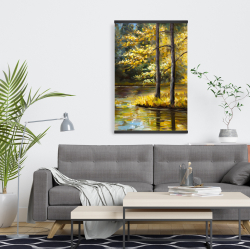 Magnetic 20 x 30 - Fall landscape by the water