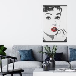 Magnetic 20 x 30 - Audrey hepburn outline style