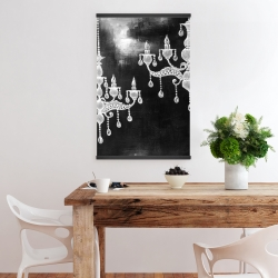 Magnetic 20 x 30 - White chandeliers