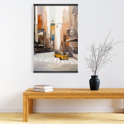 Magnetic 20 x 30 - Calm street with taxi