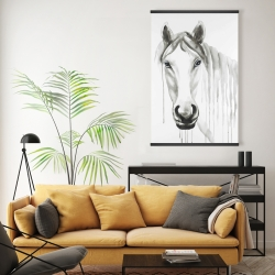 Magnetic 20 x 30 - Solitary white horse
